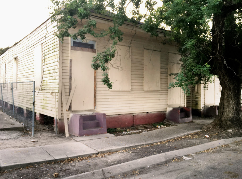 Buddy Bolden's home in Central City.