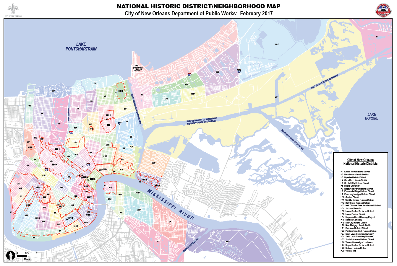 Map Of New Orleans And Surrounding Cities on